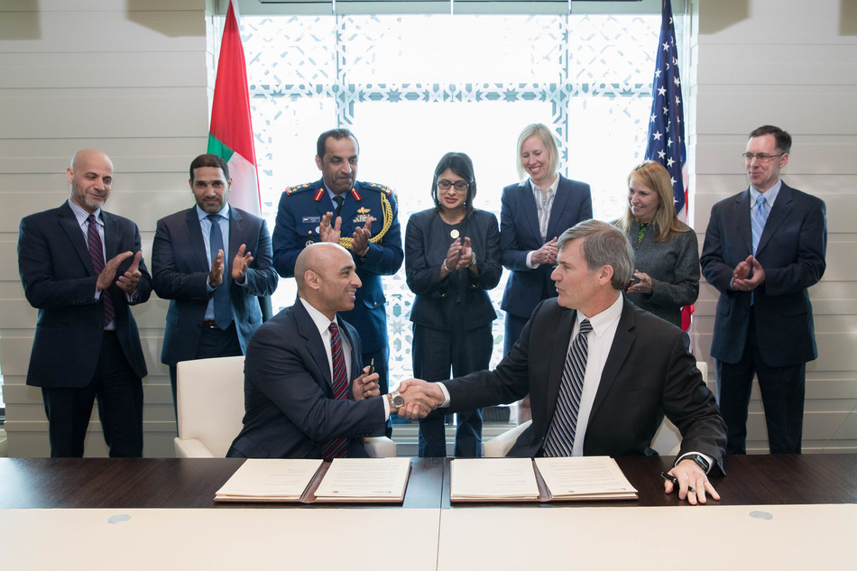 Ambassador Yousef Al Otaiba signs MOUs on behalf of United Arab Emirates Government and Health Authority of Abu Dhabi (HAAD).