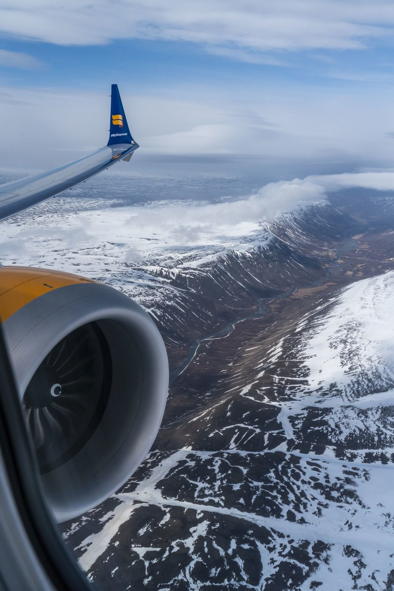 Celebratory flight 'Iceland By Air' takes a special route over Iceland's spectacular sights to mark the arrival of Icelandair's new Boeing 737 MAX 8 plane (PRNewsfoto/Icelandair)