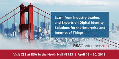 CSS to Showcase Futureproof Digital Identity Solutions for Today's Enterprise & Internet of Things (IoT) at RSA Conference 2018. Next Generation, Crypto-Agile Public Key Infrastructure (PKI) and Digital Certificate Management Solutions  meet for Today's Enterprise and the Post-Quantum Computing Era.