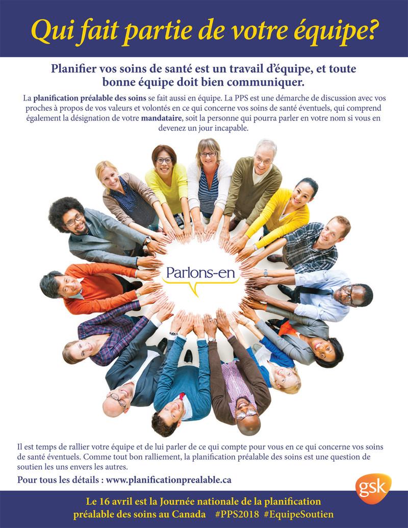 Affiche de la Journée nationale de la planification préalable des soins 2018. (Groupe CNW/Association canadienne de soins palliatifs)