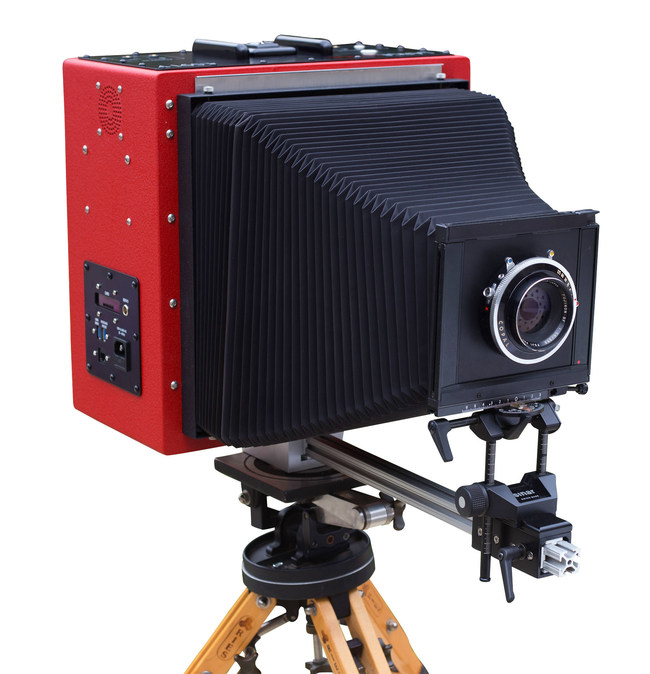 LS911, 8x10 Large Format Digital Camera With a Lens on a Large Tripod