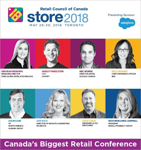 Top retail top influencers speak at STORE 2018 (CNW Group/Retail Council of Canada)
