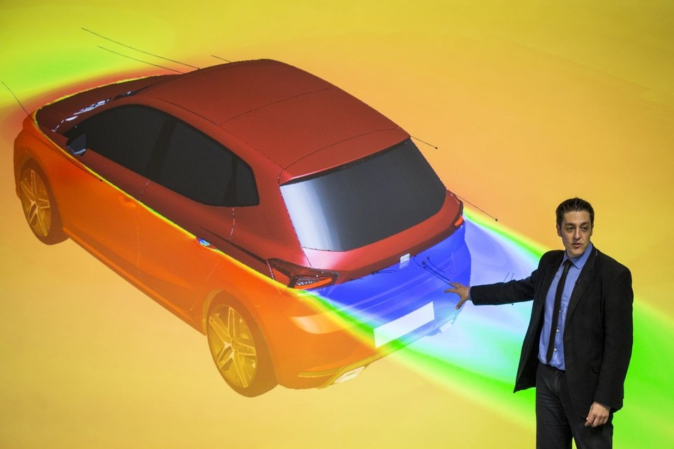 95,000 simulations are carried out on models with up to 3 million elements in the development stage. (PRNewsfoto/SEAT)