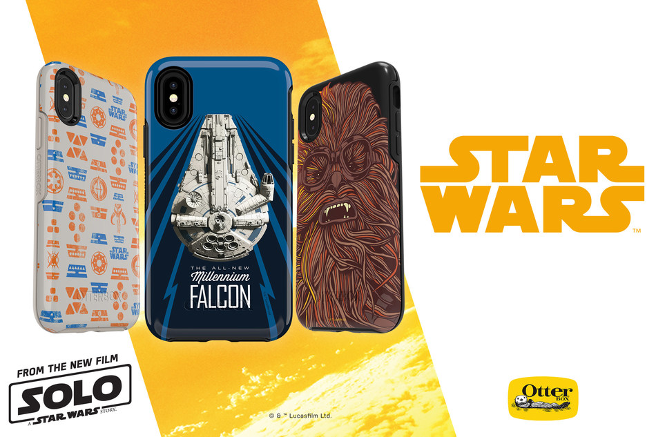 Solo: A Star Wars Story collection on OtterBox Symmetry Series, available now, defends Apple and Samsung devices from drops, dings and blaster bolts. The new cases display three galactic designs in a salute to the new movie Solo: A Star Wars Story.