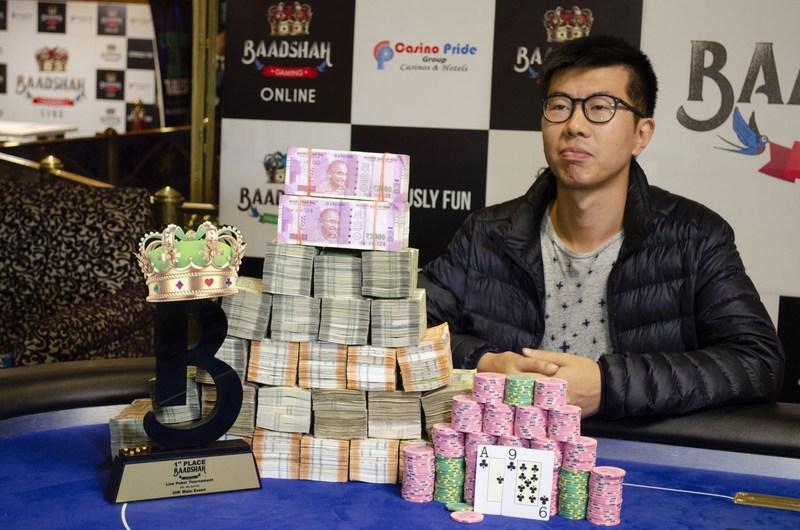 Bobby Zhang - Winner of the 30K Main Event (PRNewsfoto/Baadshah Gaming)