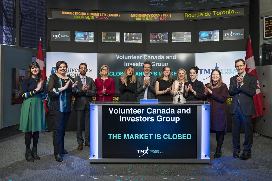 Volunteer Canada and Investors Group Closes the Market (CNW Group/TMX Group Limited)