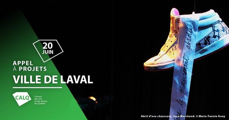 Récit d'une chaussure de Sara Marchand. Crédit Marie Fannie Guay (Groupe CNW/Conseil des arts et des lettres du Québec)