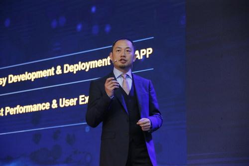 Heng Qiu, Executivo-Chefe de Marketing do Grupo de Negócios Empresariais da Huawei, em seu discurso inaugural na HAS 2018 (PRNewsfoto/Huawei)