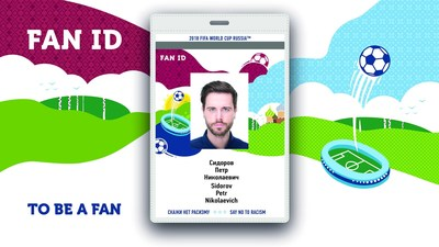 The 2018 FIFA World Cup™ fans have ordered half a million FAN IDs (PRNewsfoto/MoT Russian Federation)
