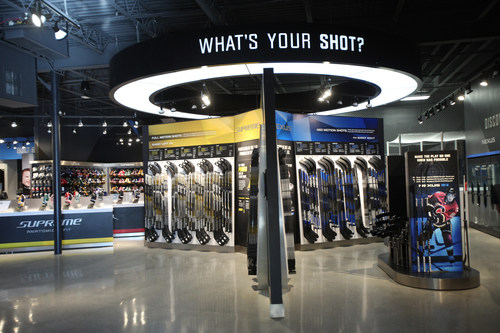"""Pure Hockey, the largest hockey retailer in the U.S., acquired Bauer Hockey's """"Own The Moment"""" retail stores in Bloomington, MN (pictured above) and Burlington, MA. Both stores will remain Bauer-exclusive, now owned and operated by Pure Hockey."""