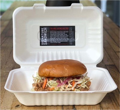 The Organic Coup Signature Sandwich and Label (PRNewsfoto/The Organic Coup)