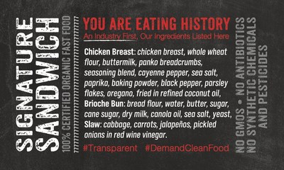 The Organic Coup Ingredient Label (PRNewsfoto/The Organic Coup)