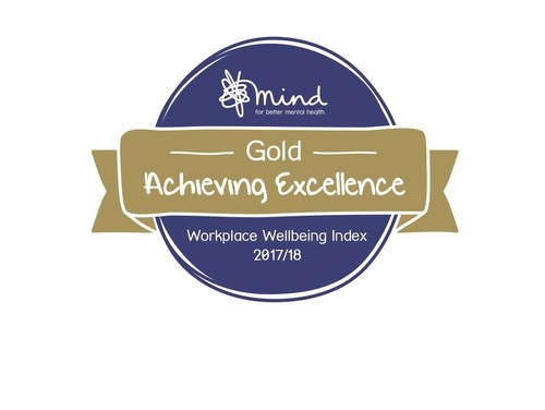 Jacobs has been recognized with the gold award in Mind's second annual Workplace Wellbeing Index, a benchmark of best policy and practice around mental health in the workplace.