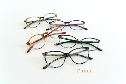 Leading national eyewear retailer, Eyemart Express, announces the launch of Plume, an exclusive lightweight and colorful frame collection for women. Like their namesakes, Plume frames are feather-light, beautifully handcrafted from ultra-thin UTX, a type of plastic that makes the new line 40-percent lighter and half as thick as typical frames.