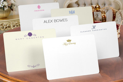 Modern Royal Personalized Stationery from The Stationery Studio (www.thestationerystudio.com)