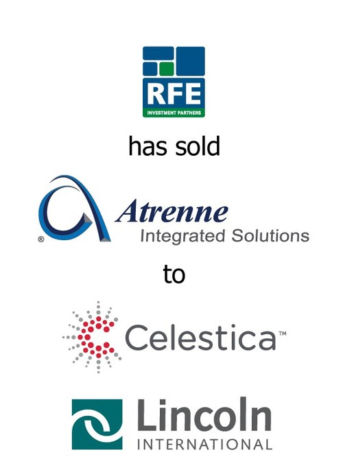 Lincoln International represents RFE Investments Partners in the sale of Atrenne Integrated Solutions, Inc. to Celestica, Inc.
