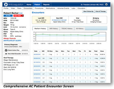 Point of Care Decision Support Announces New Software Release for Anticoagulation (AC) Software