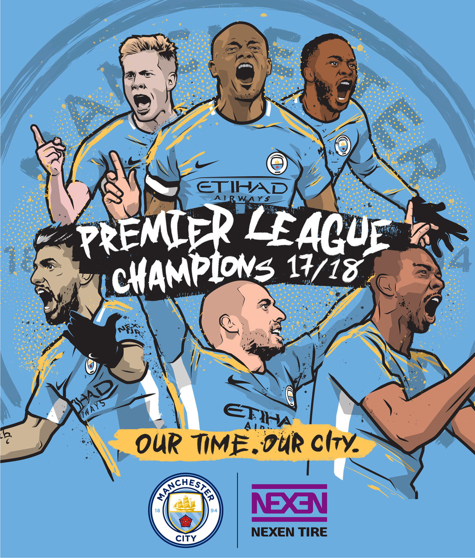 Nexen Tire's Partner Manchester City Becomes Champions of the 2017-18 English Premier League