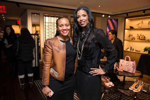 Sheena Wright, President & CEO of United Way of New York City with Areva Martin, best-selling author of Make It Rain, at United Way of New York City's WOMEN UNITED Make It Your Own personal branding event.