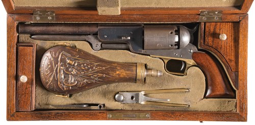 """Selling for $1.84 million, this civilian Colt Model 1847 """"Walker"""" revolver now holds the world record price for a single firearm at auction."""