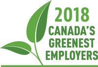 Canada's Greenest Employers 2018 (CNW Group/Mediacorp Canada Inc.)