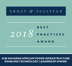 Frost & Sullivan recognizes NuRAN Wireless with the 2018 Sub-Saharan Africa Enabling Technology Leadership Award for its low-cost, low-power cellular equipment. (PRNewsfoto/Frost & Sullivan)