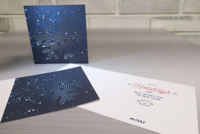 The Golf Channel, Foil and Embossing Holiday Card 2017