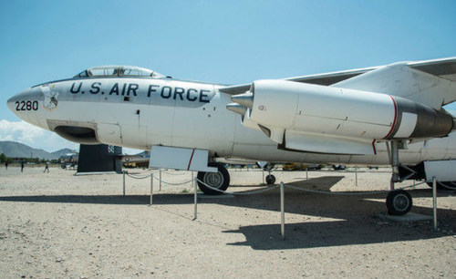 The B-47E Stratojet, s/n 53-2280, as it sits on exhibit at the National Museum of Nuclear Science & History in Albuquerque, New Mexico.