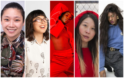 From left to right: Winnie Luk, Managing Director of Rainbow Railroad, Michelle da Silva, Now Magazine, DJ Bambii, social progress advocate, Cindy Li, Ciel/Work In Progress, Mykki Blanco, New York City trans rapper. (CNW Group/Corby Spirit and Wine Communications)