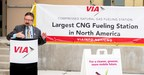 VIA's New CNG Fueling Station Largest in North America