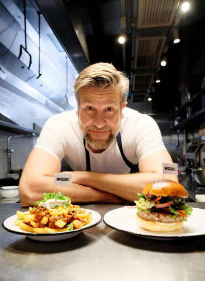 Chef Uwe Opocensky with both Impossible items