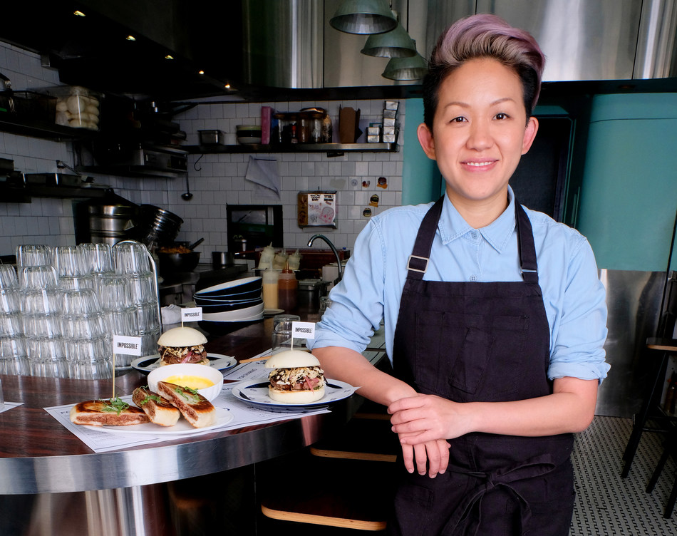 Chef May Chow with both Impossible builds