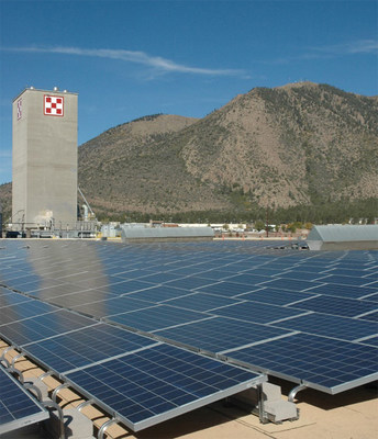 Purina's Flagstaff, Arizona, factory is one of several company locations sourcing a portion of its energy through on-site generated solar power. (PRNewsfoto/Nestle Purina PetCare)