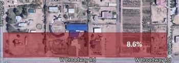 Image A: The area highlighted in this image is an actual ZIP+4 zone in Phoenix, Arizona (85043-6508).