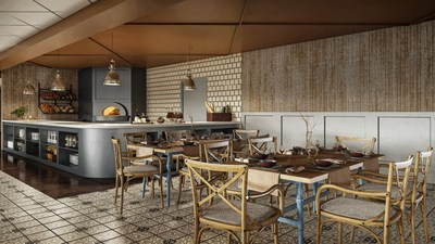 A rendering of The Brasserie at Galt House Hotel