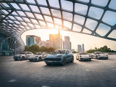 Gamma dei modelli Porsche (PRNewsfoto/Porsche)