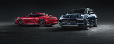 Porsche Flex Drive_911 Carrera e Cayenne (PRNewsfoto/Porsche)