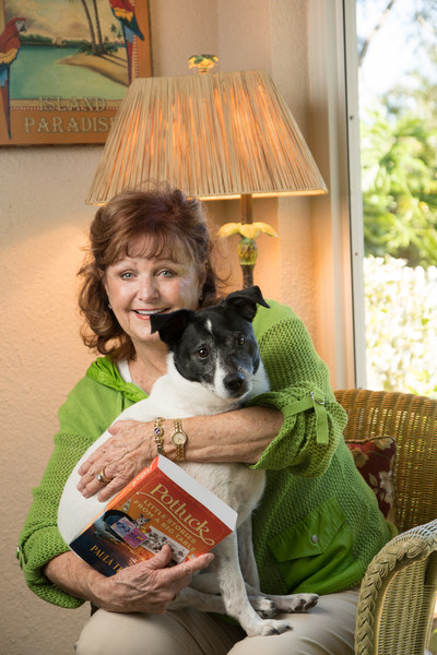 The author with her rescue dog, Chico.