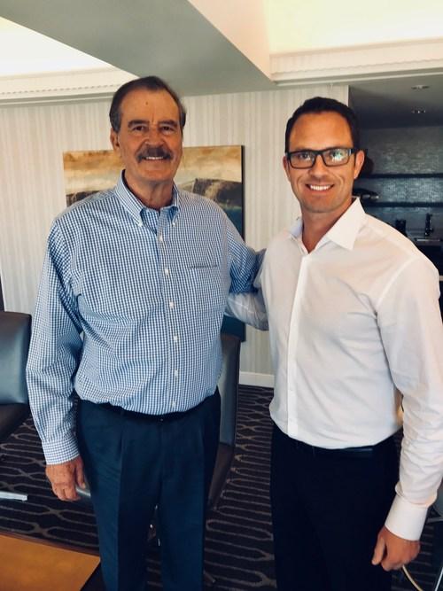 BudTrader CEO Brad McLaughlin and Former President of Mexico Vicente Fox