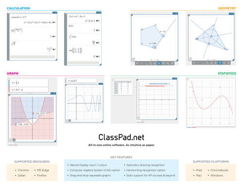 Casio announces ClassPad.net - a New Web-Based Tool Offering Cutting-Edge Features and User-Friendly Design for Mathematics Classrooms