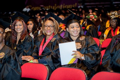 Ashford University graduates at a previous commencement ceremony.
