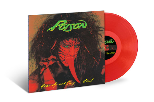 THE POWER OF POISON IS ON FULL DISPLAY WITH  30TH ANNIVERSARY180-GRAM RED-VINYL REISSUE OF  OPEN UP AND SAY… AHH! Rock Icons Salute Five-Times Platinum Best-Selling Album With Restored, Controversial Original Cover Art Via Capitol/UMe on April 20. The LP was pressed in two collectible color variants: red vinyl (available at select retailers) and a limited edition of 1,000 in green vinyl (available exclusively at The Sound Of Vinyl).