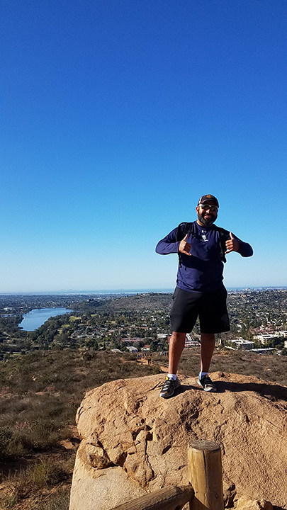 Warriors and guests experienced the healing powers of nature and camaraderie during a six-mile hike on Cowles Mountain's scenic trails during a recent Wounded Warrior Project® event.