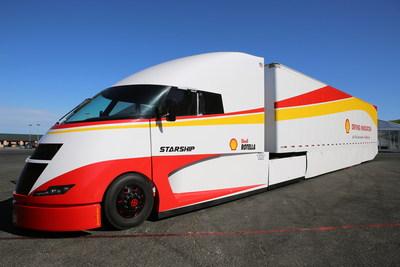 Le camion Starship de Shell est arrivé au circuit automobile Sonoma Raceway