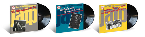 Out today, Verve Records/UMe releases a trio of beloved gems from the legendary live series Jazz At The Philharmonic back on vinyl: 'Ella Fitzgerald's Jazz at the Philharmonic: The Ella Fitzgerald Set,' 'Jazz at the Philharmonic: Lester Young Carnegie Blues' and the all-star 'Jazz at the Philharmonic: Blues In Chicago 1955,' featuring Oscar Peterson, Illinois Jacquet and Herb Ellis.