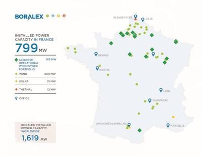 Boralex's geographic coverage in France (CNW Group/Boralex Inc.)