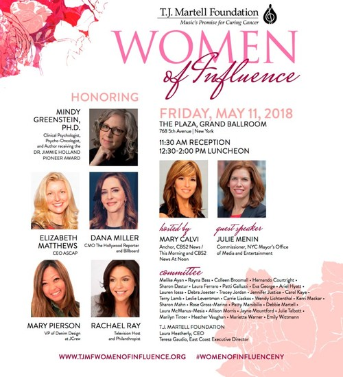 The T.J. Martell Foundation 2018 Women of Influence Awards in New York