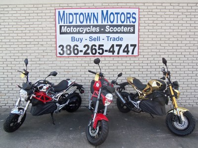 """At Midtown Motors we truly believe that """"It is not WHAT you ride, It's THAT you ride."""" However, no one ever said you can't ride in style! The Rocket combines the pleasures of a scooter with the hipness of a motorcycle, and will also get you about 100 miles per gallon. You do NOT NEED A MOTORCYCLE LICENSE to drive this machine. It is AUTOMATIC! Have a passenger? Put them on and go riding."""