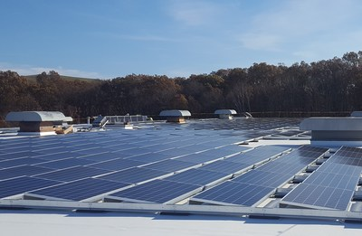 Klear Vu's rooftop solar array in Fall River, MA.