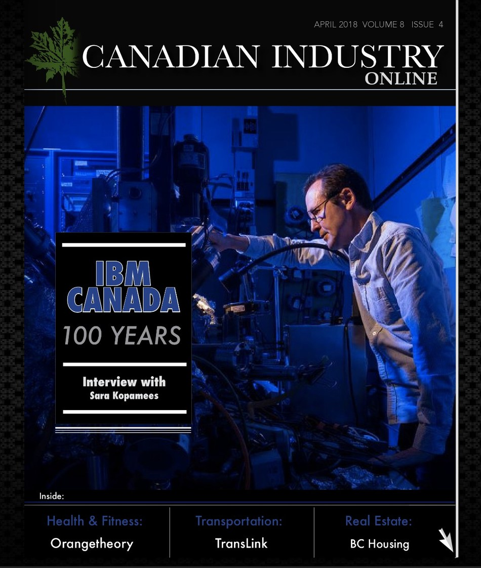April 2018 Edition Canadian Industry (CNW Group/Industry Media)